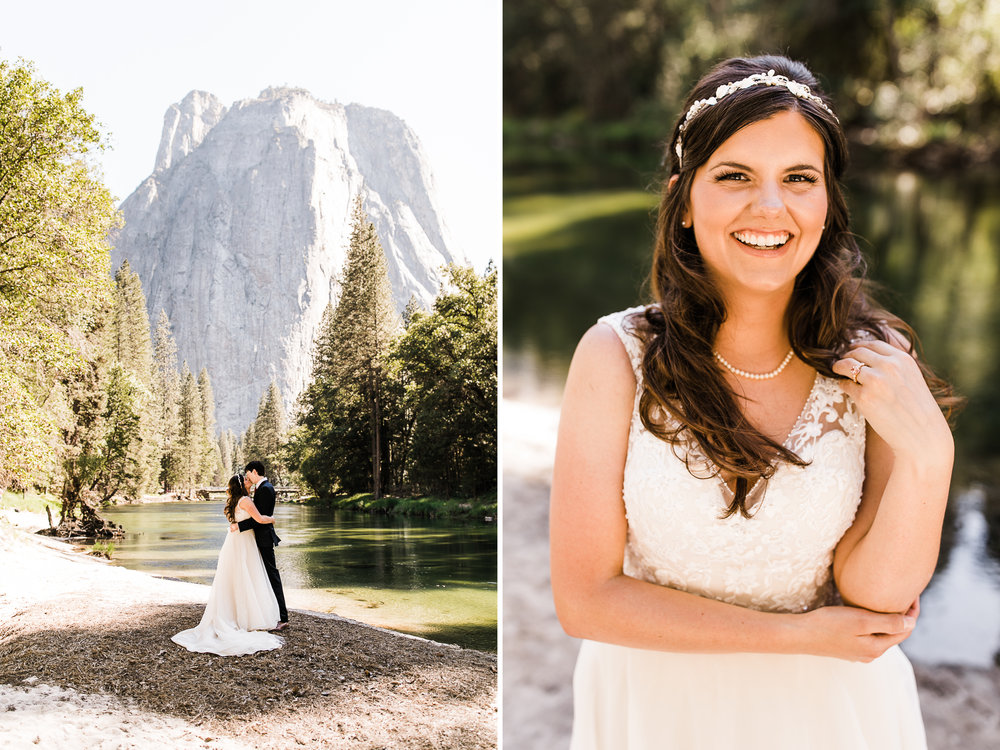samantha + ben's elopement in yosemite valley | adventure wedding portraits at glacier point | national park elopement photographer | yosemite wedding photographer