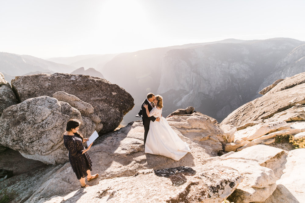 kit + brad's elopement in yosemite | adventure wedding at taft point | national park elopement photographer | the hearnes adventure photography | yosemite elopement photographers
