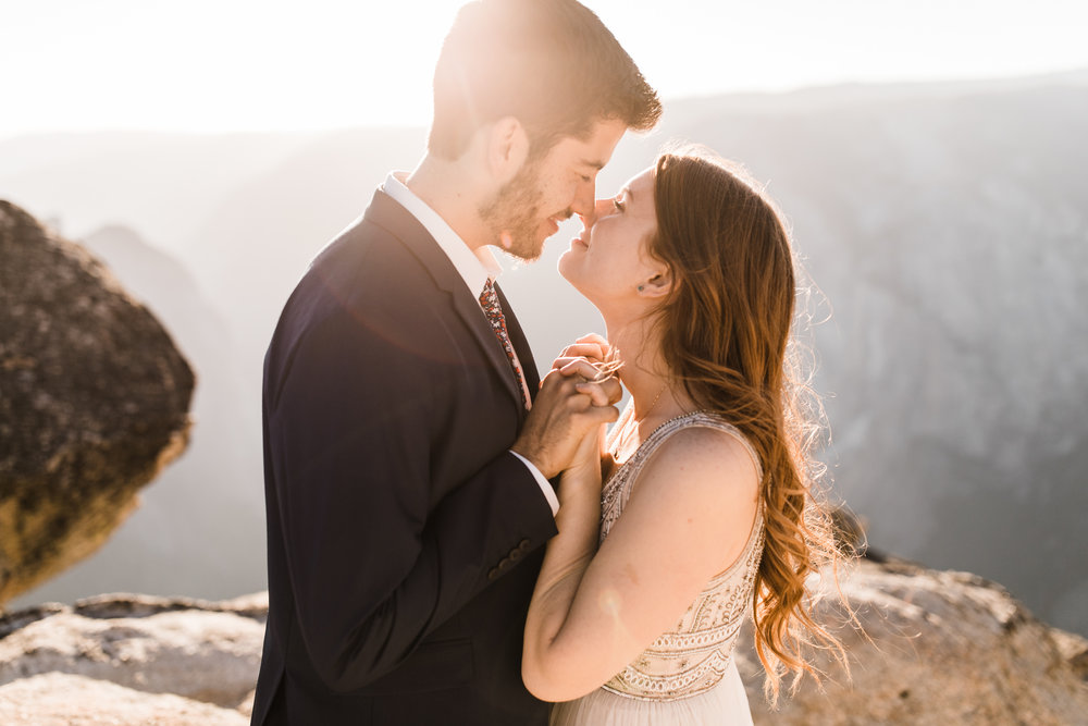 ginger + zach's destination wedding portrait session | adventure elopement photographer | yosemite national park elopement photographer