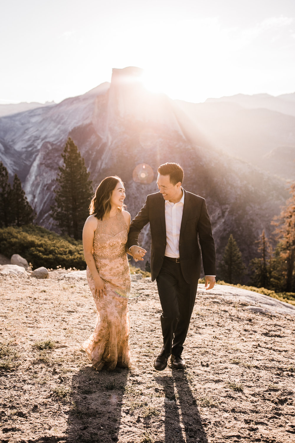 michelle + doug's adventure session at glacier point | 10 year wedding anniversary celebration | yosemite elopement inspiration | the hearnes adventure photography