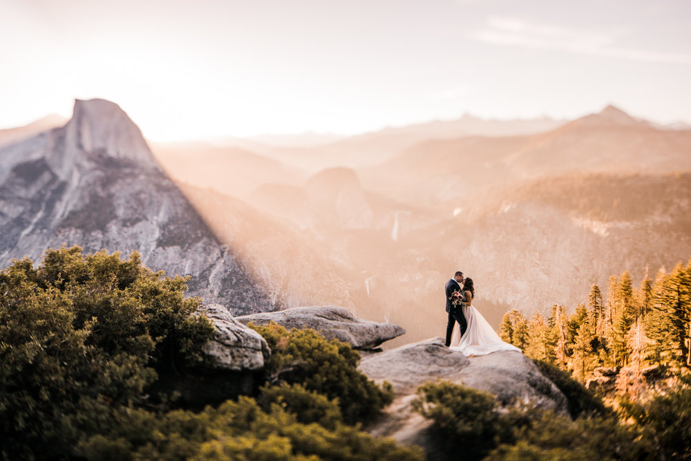 destination elopement in yosemite valley | adventure wedding portraits + a romantic ceremony | national park elopement photographer | the hearnes adventure photography