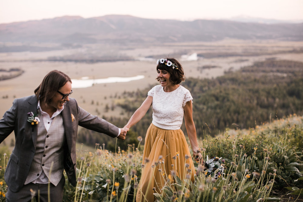 jen + amanda's intimate elopement in grand teton national park | jackson, wyoming wedding photographer | the hearnes adventure photography | www.thehearnes.com