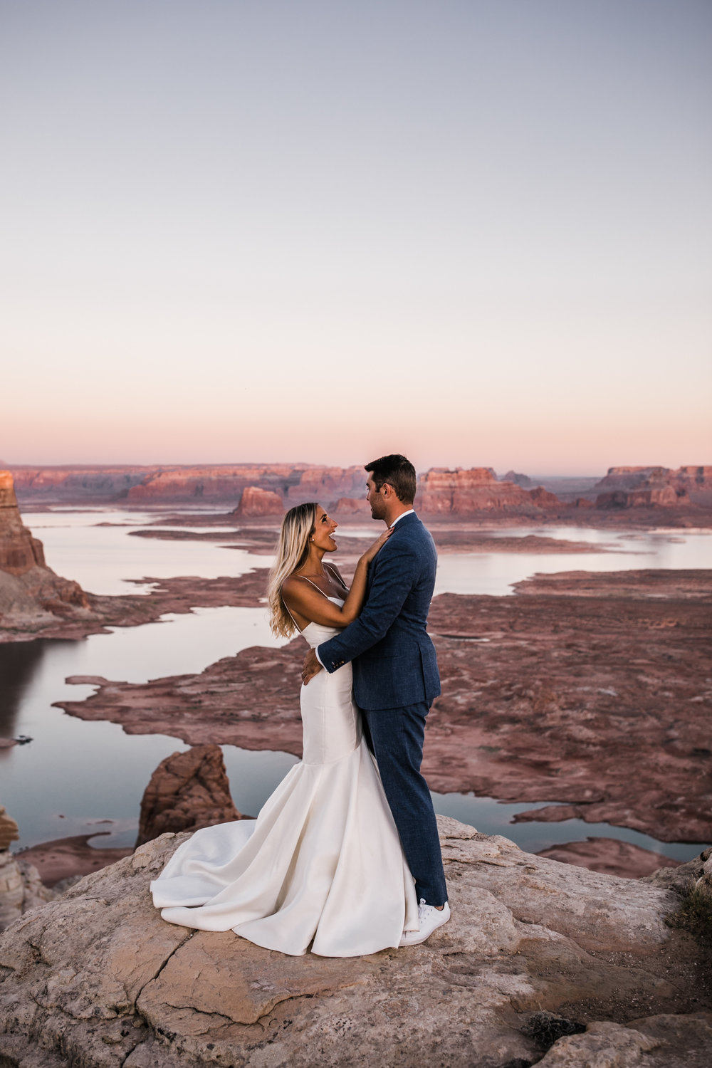 jeep elopement in page, arizona | lake powell adventure wedding | desert elopement inspiration | utah wedding and elopement photographer | the hearnes