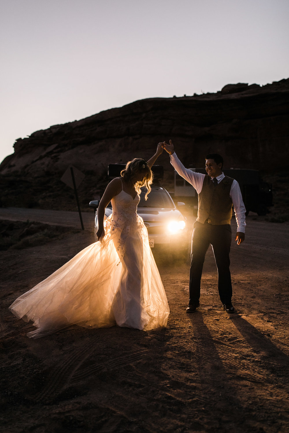 intimate elopement in a secret canyon near moab, utah | moab elopement photographer | the hearnes adventure photography