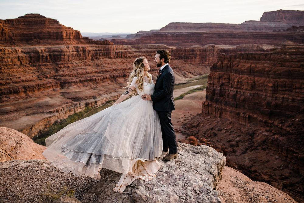 intimate wedding ceremony in canyonlands national park   off-roading jeep adventure wedding portraits   moab utah elopement   chantel lauren bride