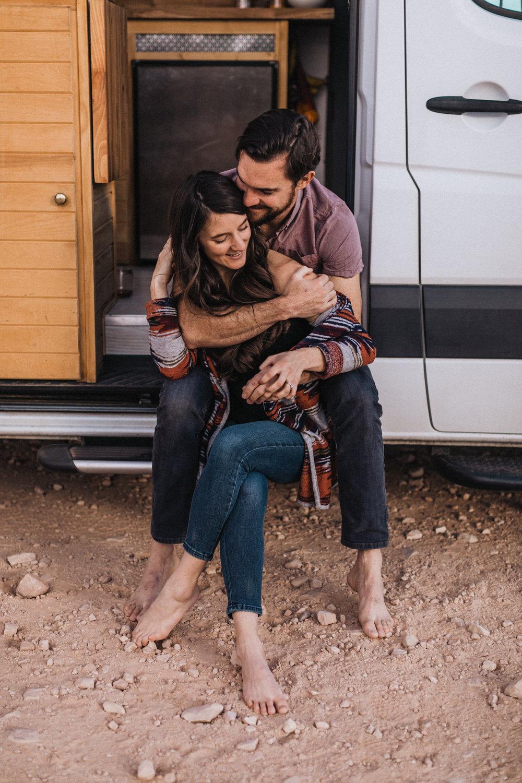 moab laughing couple