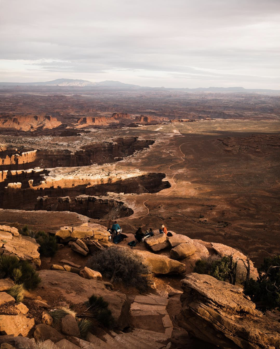van life with friends in moab utah near canyonlands national park
