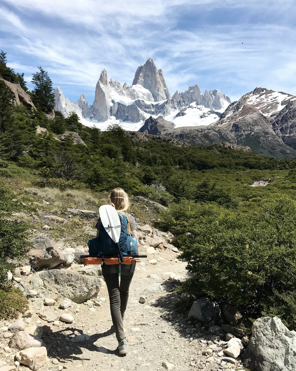 hiking in patagonia argentina near fitz roy