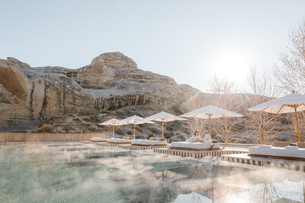 the pool an amangiri is heated in the winter and makes for the perfect place to cool off in the summer
