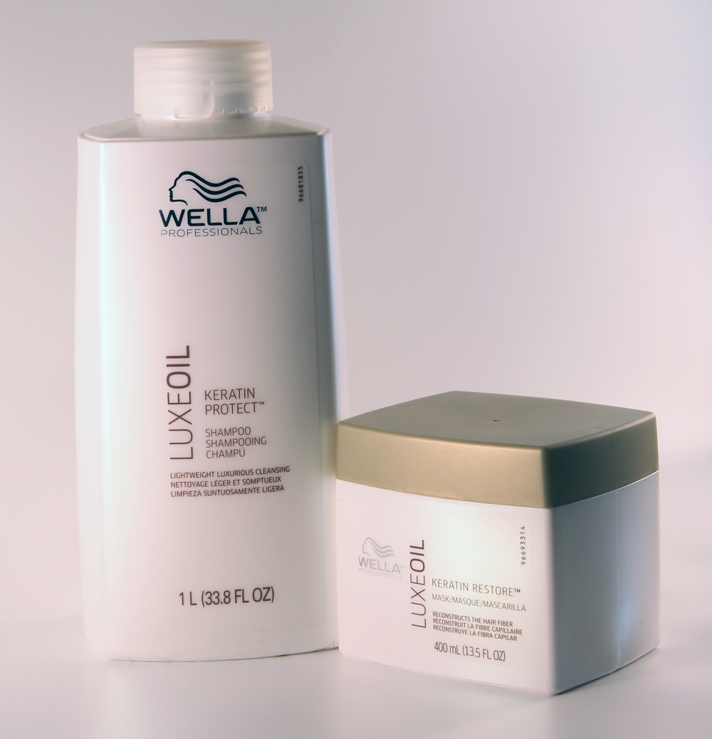 LUXEOIL Protect Shampoo and KERATIN Restore Mask