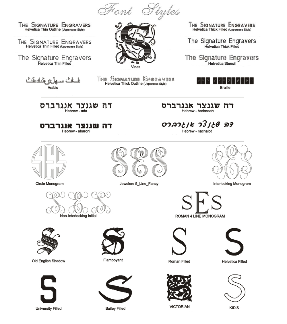 ENGRAVING FONT STYLE PAGE 2