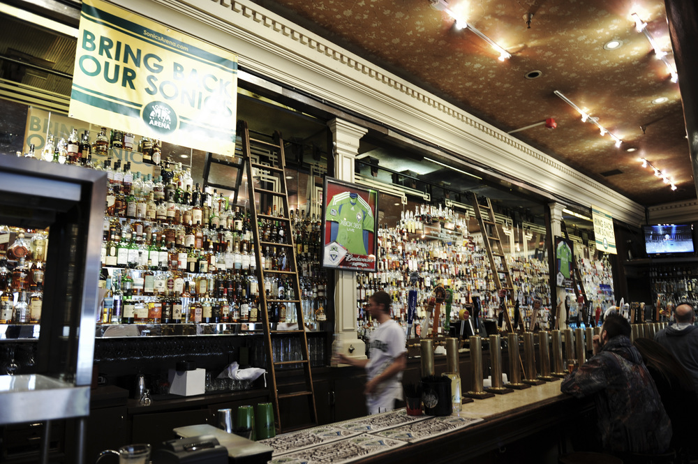 The famous McRory's backbar