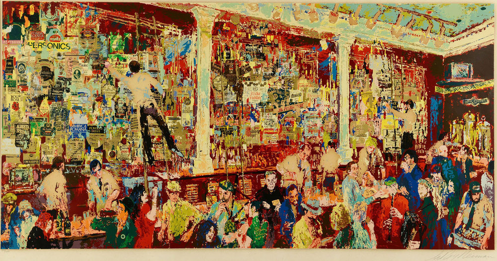 FX McRory's Whiskey Bar by Leroy Neiman