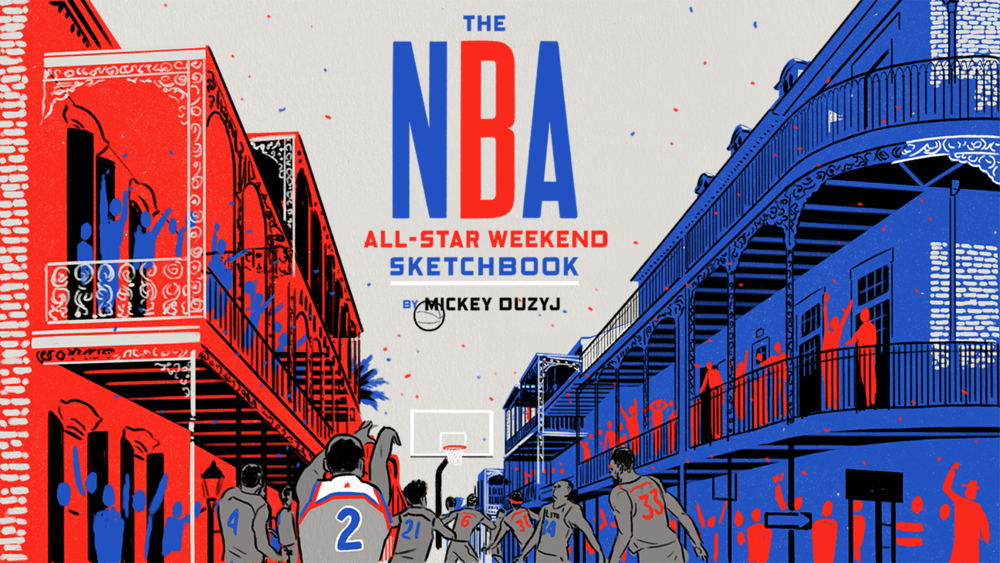 NBA All-Star Weekend Sketchbook by Mickey Duzyj