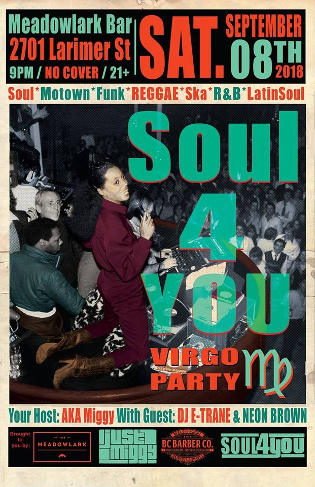 Soul 4 You | Meadowlark | Saturday Sept. 8th