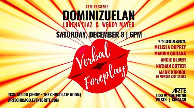 Come catch a @konkolskorner solo set opening for #verbalforeplay - A variety show about #love at ARTE in Pilsen. #love #lovesongs #chicagomusic #letsparty #laugh