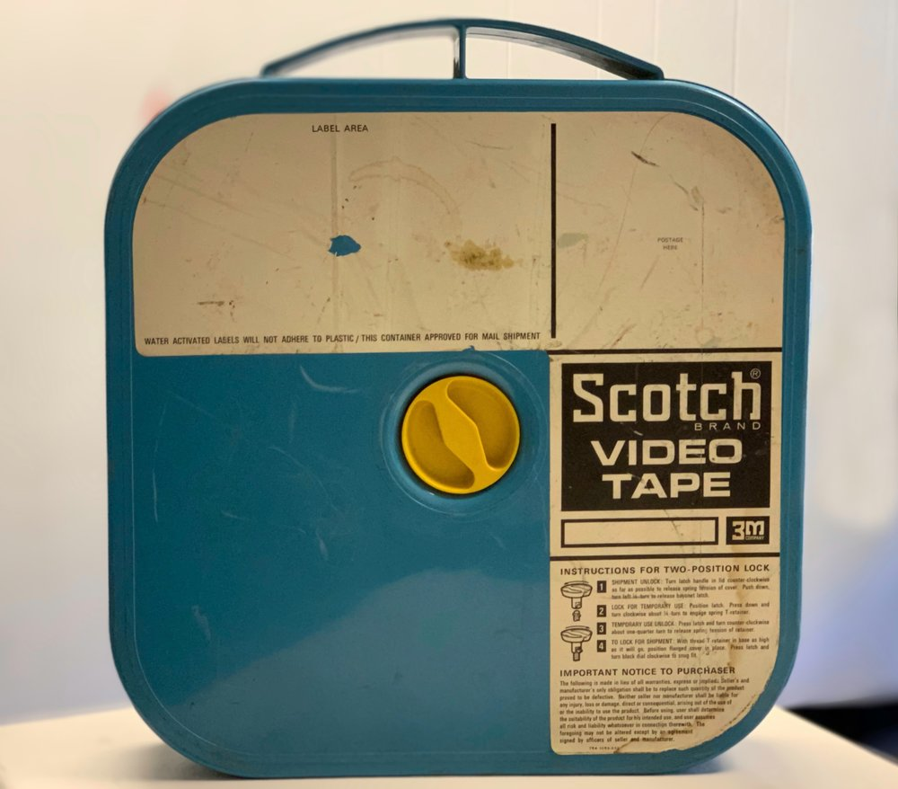 "2"" 3M Scotch Model 399 Blue Plastic Shipper (the first of 3m's rigid containers-not cardboard)"