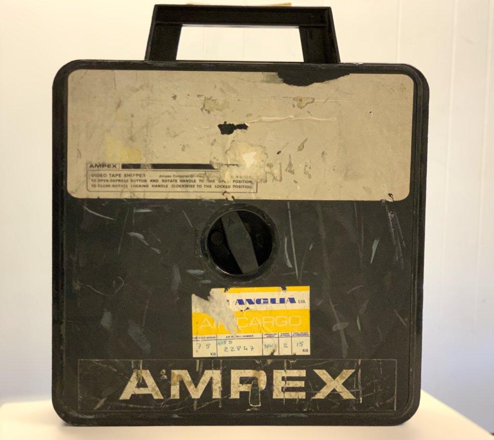 "2"" Ampex Black Plastic shipper"