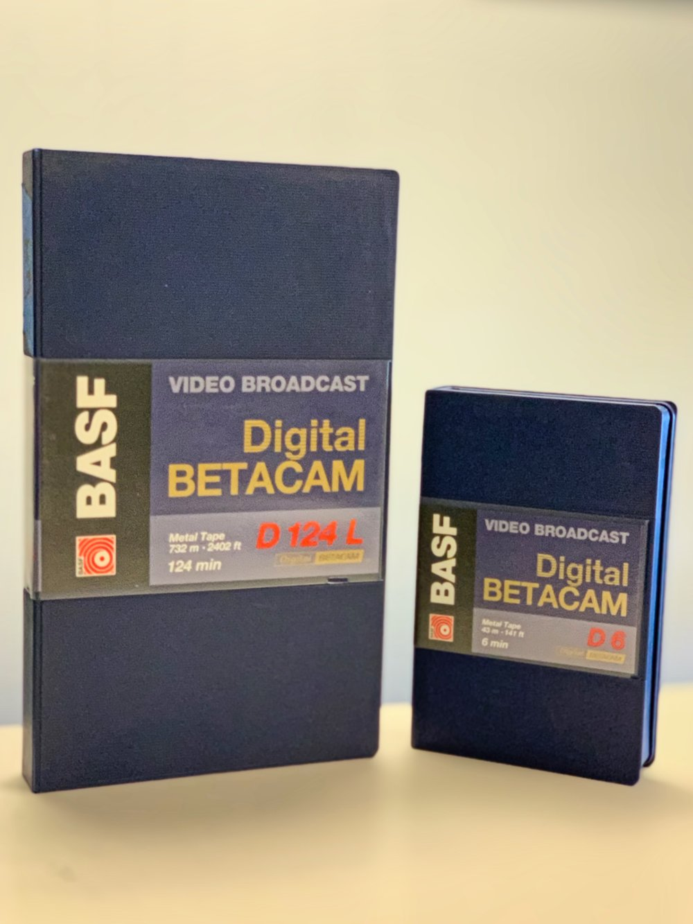 BASF DigiBeta Cassette Large and Small