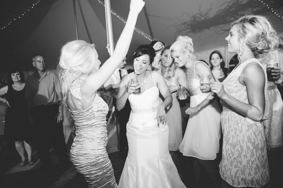 Gettin' down at Meg's wedding. Photo by  Esenam Photography