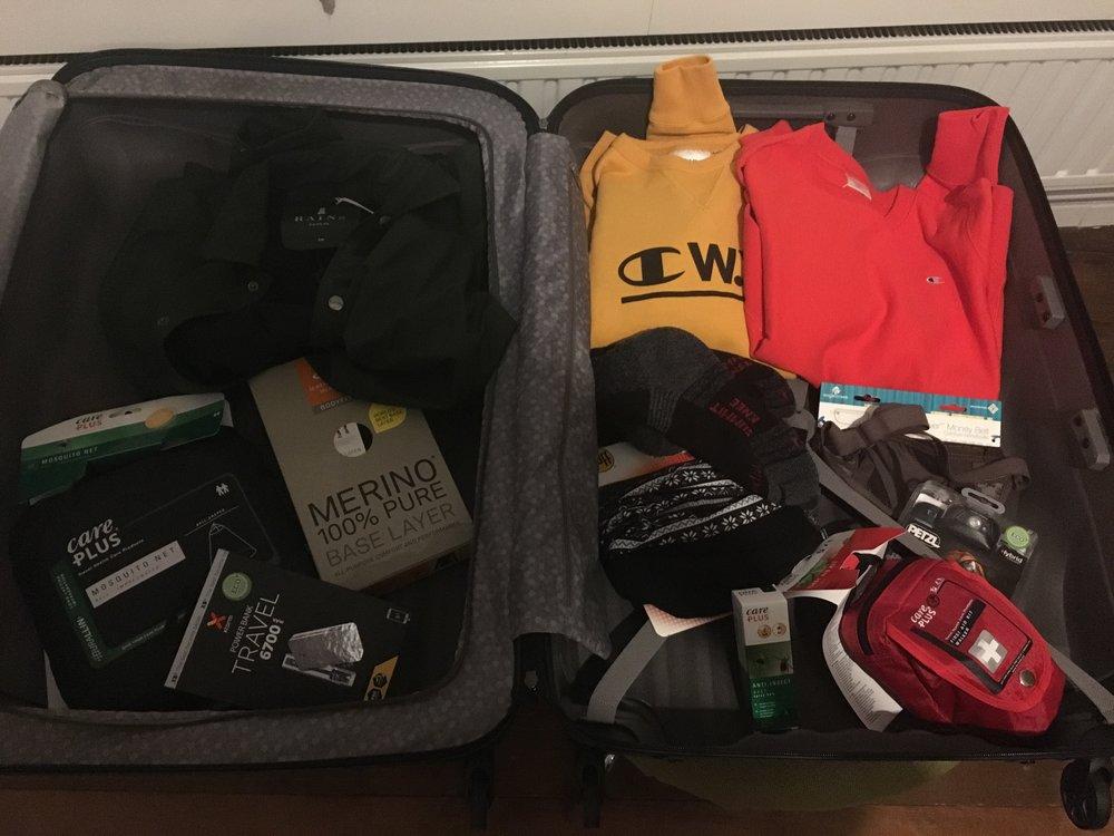 Inpakken voor Virunga. Ik ben voorbereid!