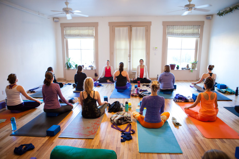 Time to practice - Open to all levels. We'll spend time with asana, restorative yoga, meditation, self-massage and q and a.