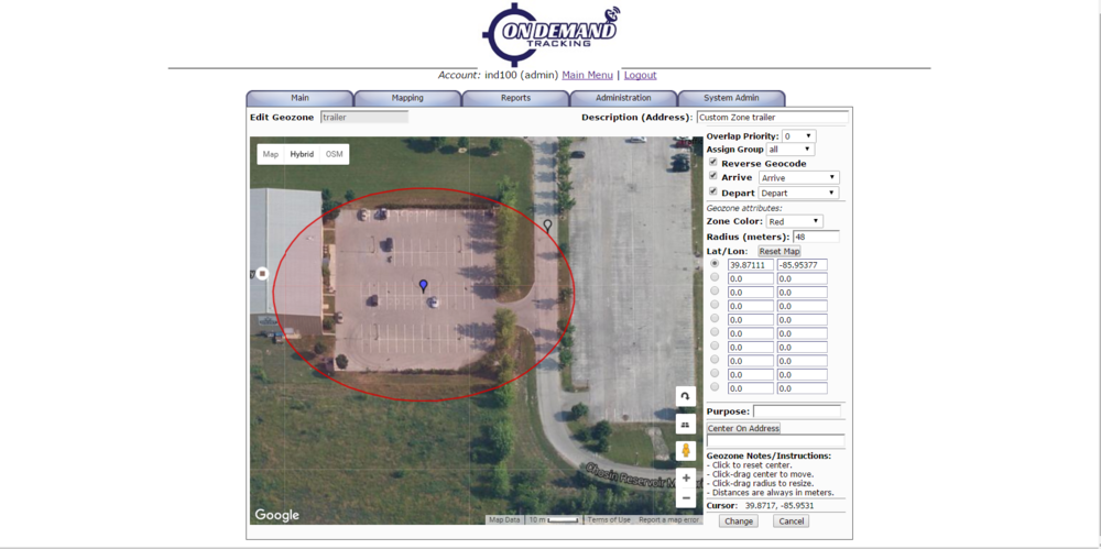 Set custom Geo-Zones around vehicles and assets and receive alerts when they arrive/depart a certain area. This is great for tracking the shipping and receiving of goods, as well as protecting assets such as storage units or shipping containers from theft.
