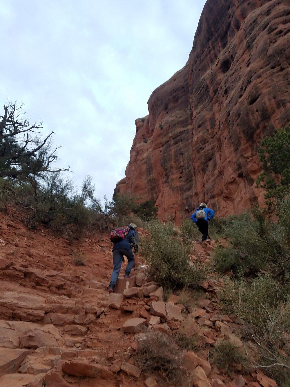 Hiking Red Rocks.