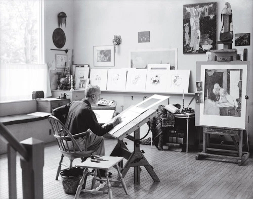Norman Rockwell in his studio – Introvert