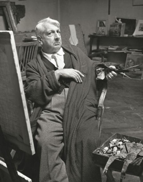 Giorgio de Chirico    in his Studio (Atelier)  , 1952.    Photo by   Herbert List