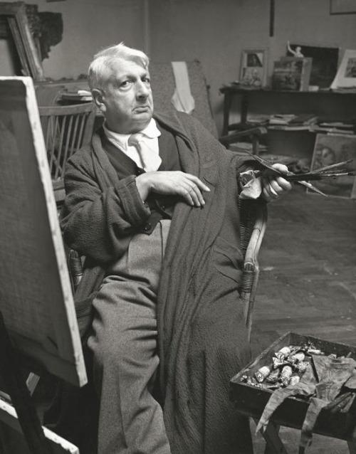 Giorgio de Chirico in his Studio (Atelier), 1952. Photo by Herbert List