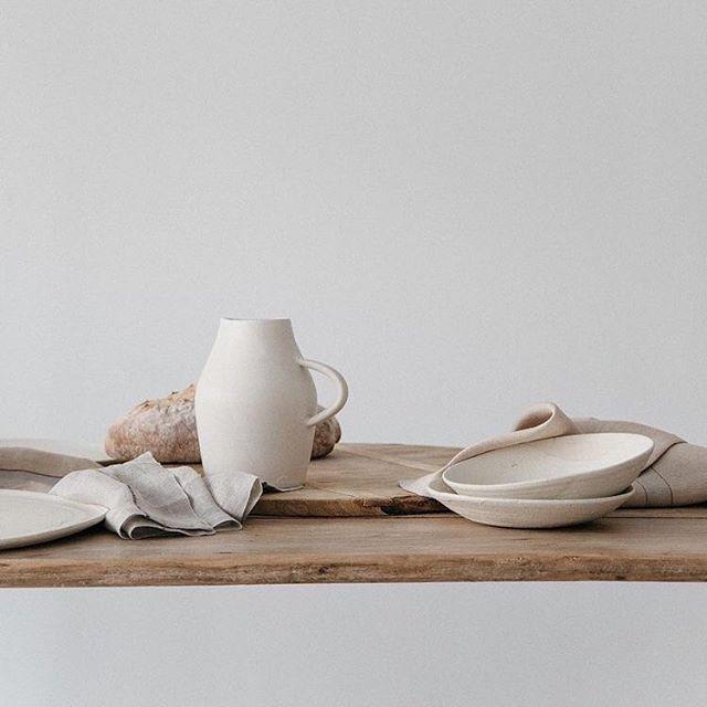 Lifestyle + Design: Textures through Ceramics and Linens. Photo by @gillianstevens