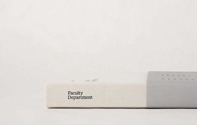 Book design via @facultydept