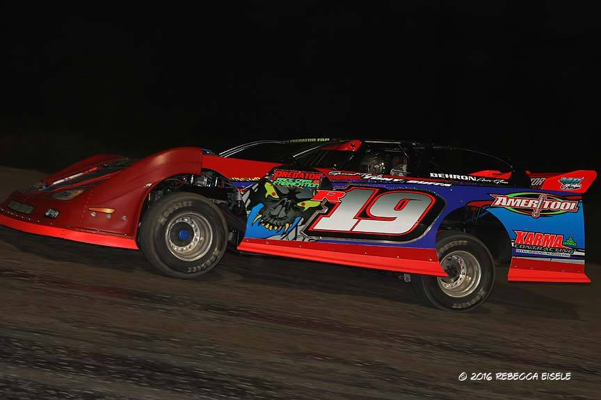 Dale Caswell of West Monroe, NY leads all Go Nuclear Series drivers with two career wins at Brockville Ontario Speedway. (Rebecca Eisele photo).
