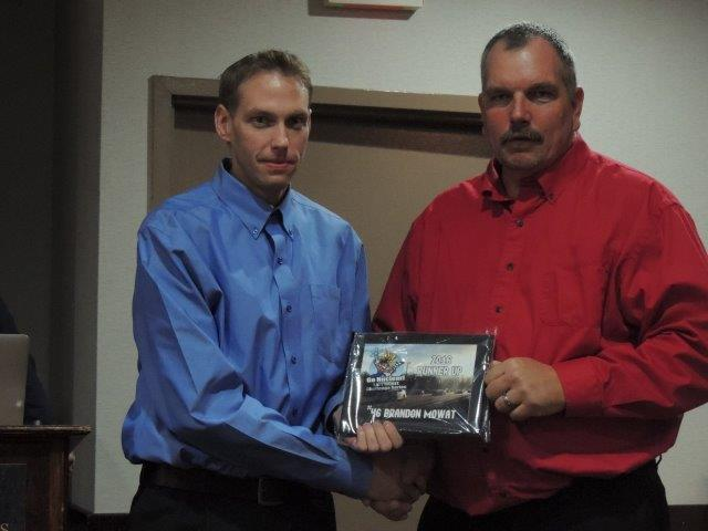 Brandon Mowat (left) received the Most Improved Driver award.