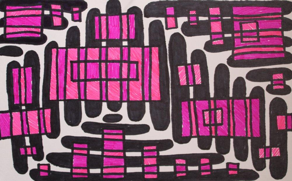 #32, 2017  Marker on Paper