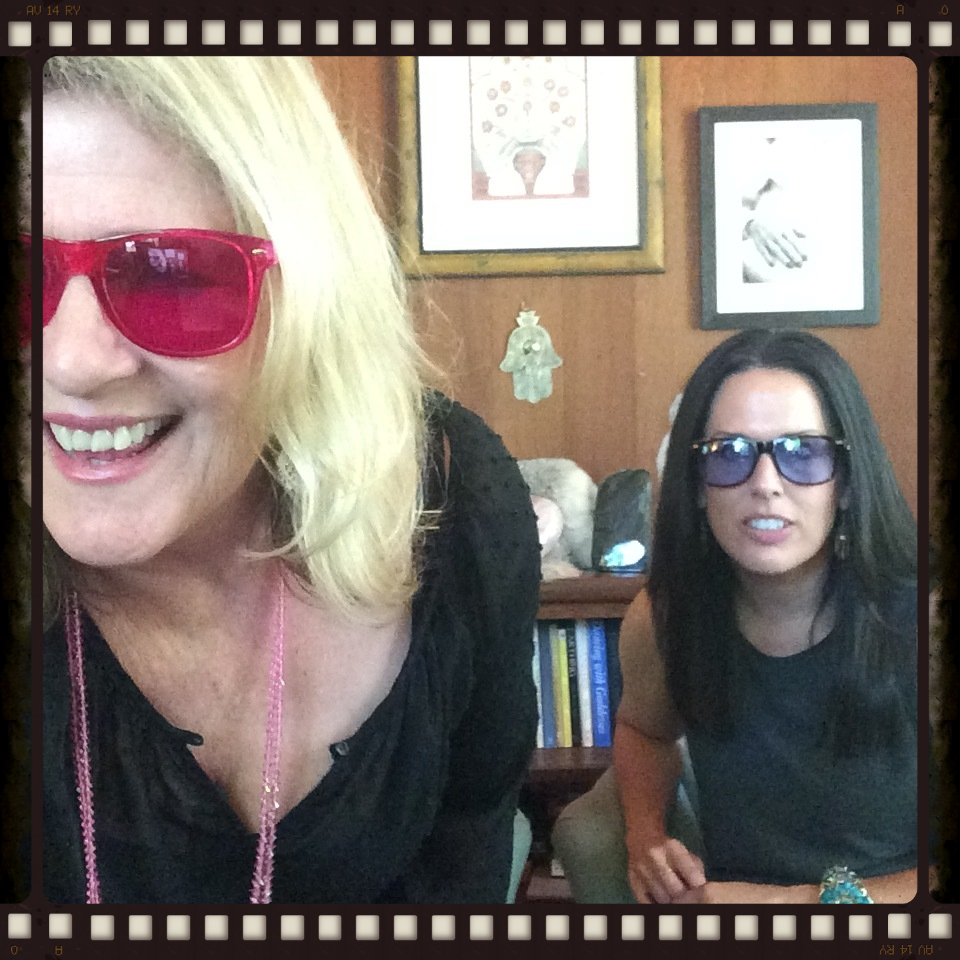 Wearing our chakra shades Just trying to figure out how to get a video together...