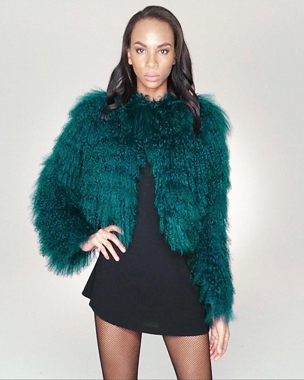 STYLE # T122662TB tibetan lamb jacket