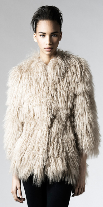 STYLE # T122053TB   tibetan lamb jacket