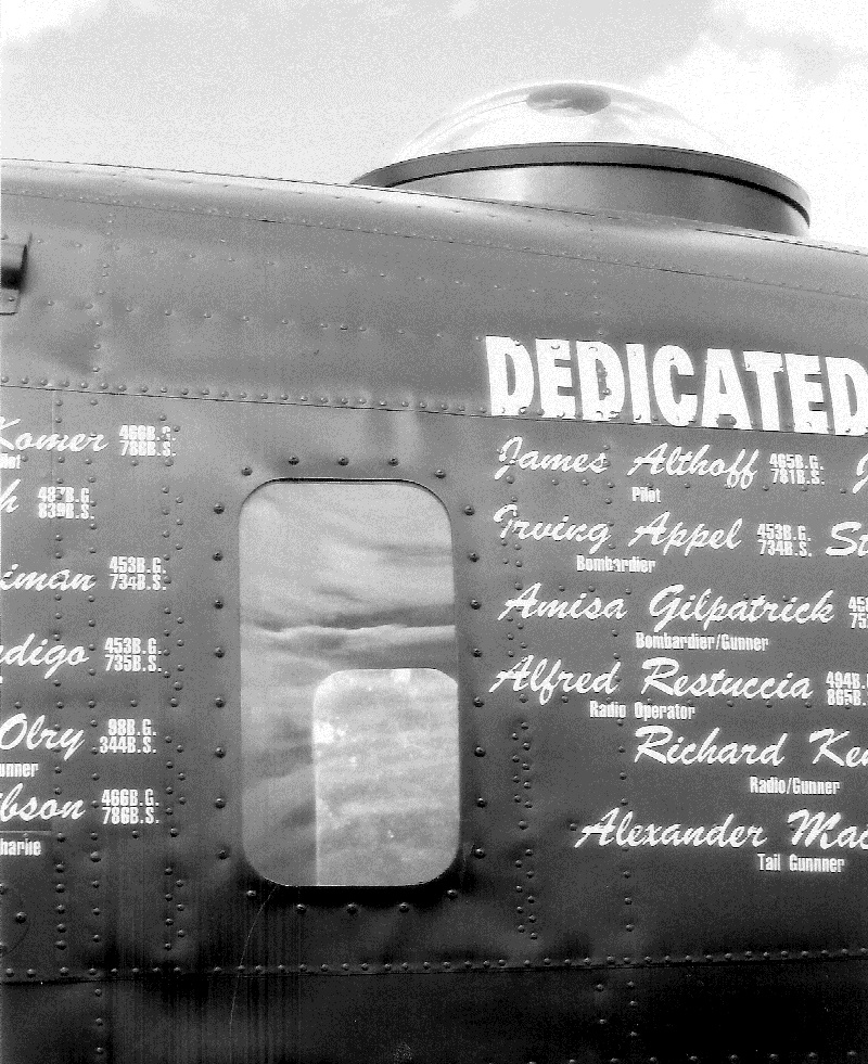 Close-up of the navigator's position with windows and bubble-top B-24J, Witchcraft, July 2009