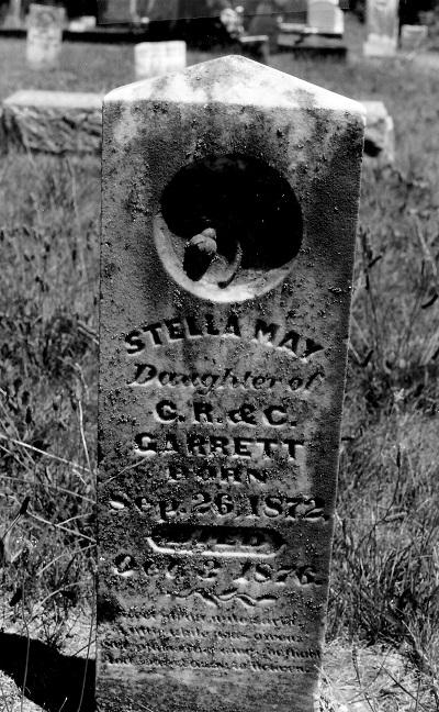 Cemetery Marker, Ebenezer Cemetery, Madison Co., Iowa Stella May Garrett
