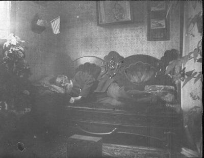 Ca. 1902, assume Garrett family home in Macksburg, Iowa Charles Robert Garrett