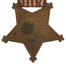 Reverse of the Grand Army of the Republic Badge.