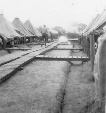 Louis A Barkus USMC camp France, 1918