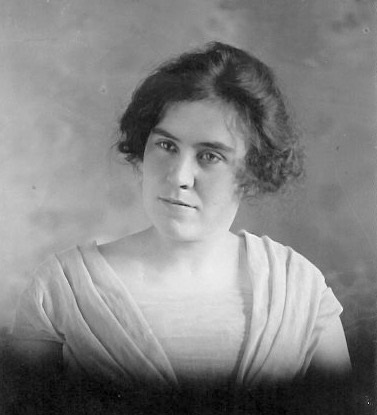 Edith Laraway Bushnell Undated photo, possible high school graduation photo.