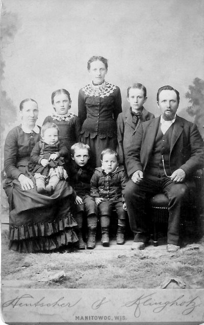 Family of Johann and Louisa Kreie, undated but probably about 1886 Children, Back Row L-R: Bertha Anna, Ida Matilde, and William Charles Front Row, L-R: Oscar, Adolph Frederick, Walter Max