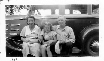 L-R: Elida, Bonnie Storch, and William Charles Photo dated 1937