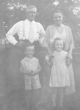 William Charles and Elida Kreie with Edward and Janet Fiebke Probably about 1937
