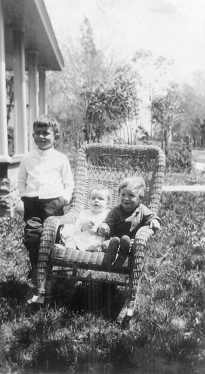Kenneth, Nadine, Doyle Probably 1918, location unknown