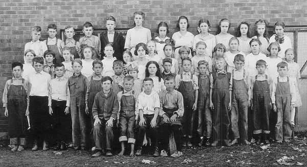 St. Charles School, 5th and 6th Grades, 1921-1922 Kenneth is front row standing, 3rd from the left. Kenneth would have been in the 6th grade.